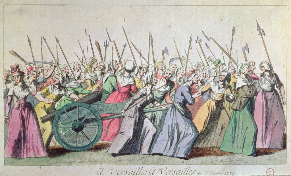 March of the women on Versailles, Paris, October 5, 1789 (engraving) (18th century) / Musée de la Ville de Paris, Musée Carnavalet, Paris, France / Bridgeman Images