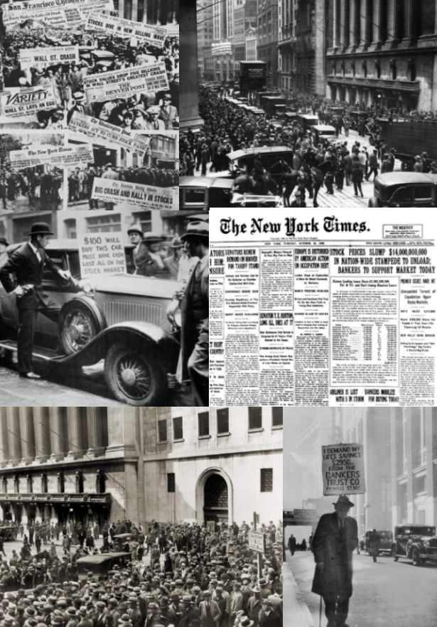 1920 images and photos of the 1920's Black Tuesday Wall Street Crash