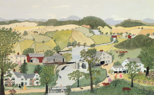 Bought with a Prize, 1947 (oil on board) Anna Mary Robertson Moses (Grandma Moses) (1860-1961) / Tokyo Fuji Art Museum, Tokyo, Japan / Bridgeman Images