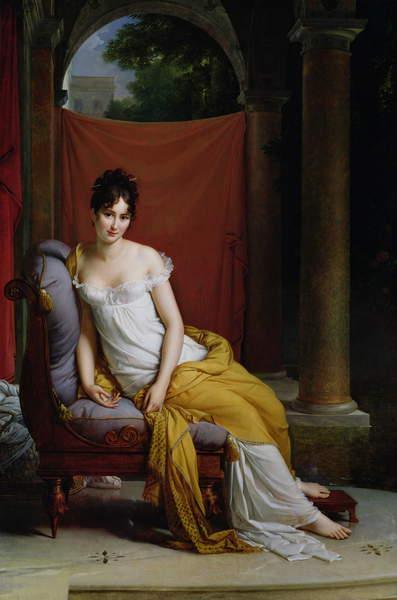 Portrait of Madame Recamier (1777-1849) (oil on canvas) Baron Francois Pascal Simon Gerard, (1770-1837) / Musée de la Ville de Paris, Musée Carnavalet, Paris, France / Bridgeman Images