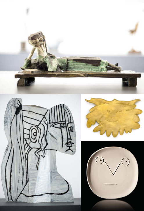 Montage of Pablo Picasso sculptures and objects
