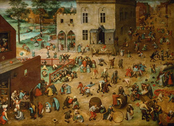 Children's Games, 1560 (oil on panel), Pieter the Elder Bruegel,  (c.1525-69) / Kunsthistorisches Museum, Vienna, Austria / Bridgeman Images