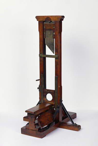 Scale model of the guillotine (18th century) / Musée de la Ville de Paris, Musée Carnavalet, Paris, France / Bridgeman Images