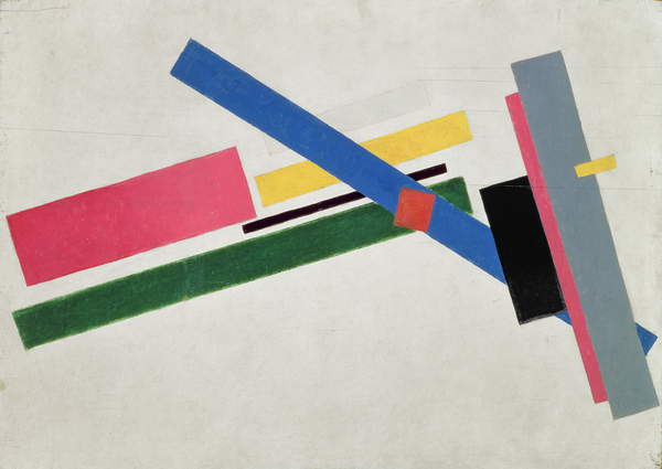Suprematist Construction, 1915 (oil on board), Malevich, Kazimir Severinovich (1878-1935) / State Russian Museum, St. Petersburg, Russia / Bridgeman Images