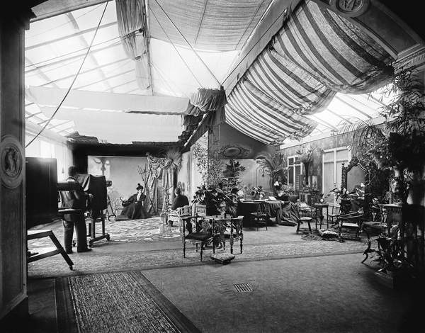 Interior of the Photographic studio of Fratelli Alinari in the 19th century, Florence