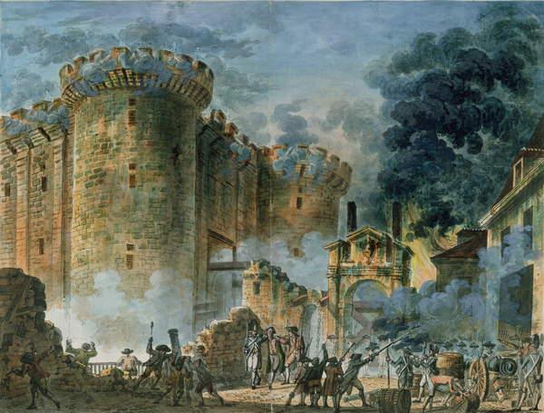 The capture of the Bastille, July 14, 1789 (oil on canvas), Jean-Pierre Houel (1735-1813) / Musée de la Ville de Paris, Musée Carnavalet, Paris, France / Bridgeman Images