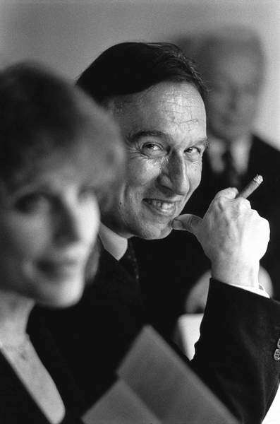 image of a smiling Claudio Abbado, Milan, Italy, 1992 (b/w photo) © Maria Mulas / Bridgeman Images