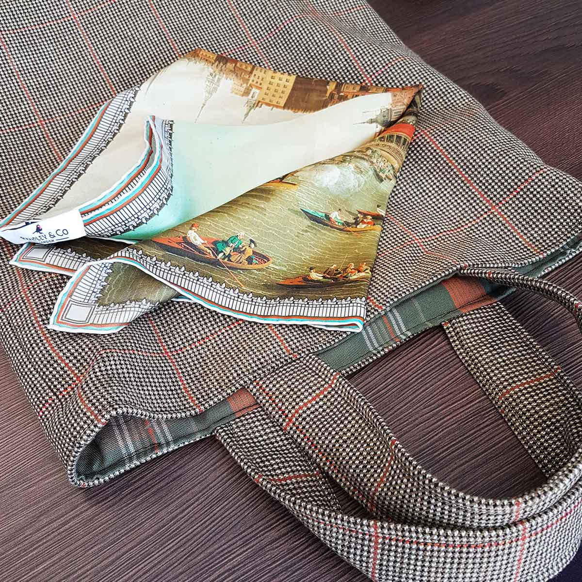 image of the pocket square scarf by Rampley & Co