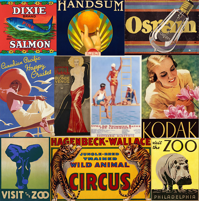 1930 images and photos of the 1930's posters, labels and advertising