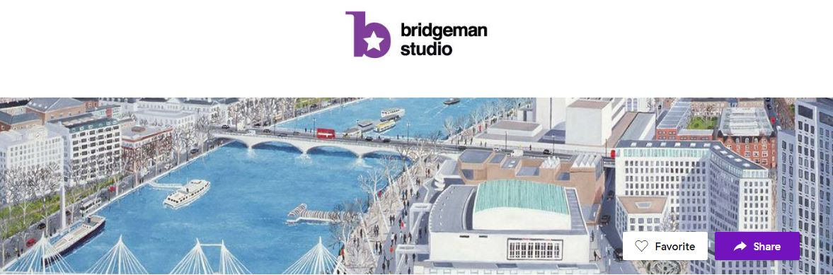 Bridgeman Studio logo and image that are featuring on Meural website