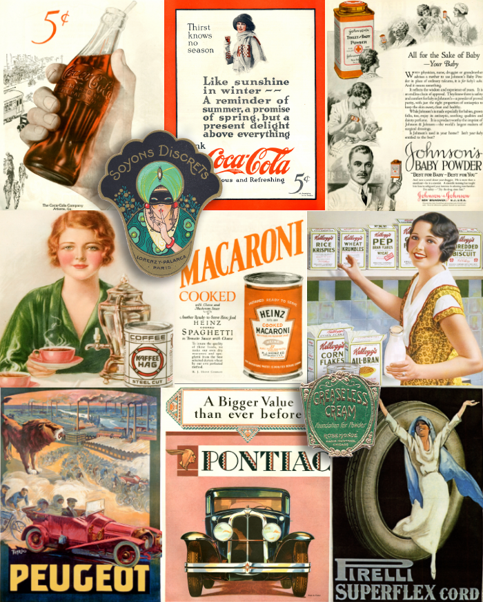 1920 images and photos of the 1920's posters, labels and advertising
