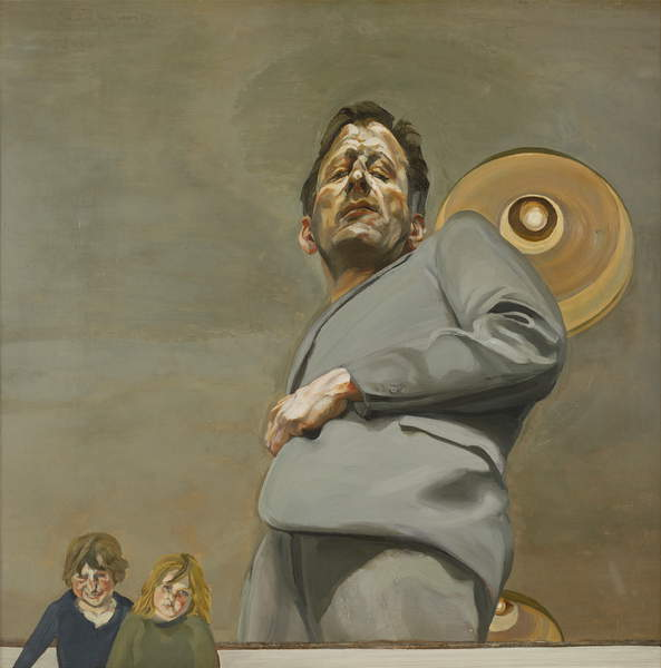 Reflection with Two Children (Self Portrait), 1965 (oil on canvas), Lucian Freud, (1922-2011) / Museo Thyssen-Bornemisza, Madrid, Spain / © The Lucian Freud Archive / Bridgeman Images