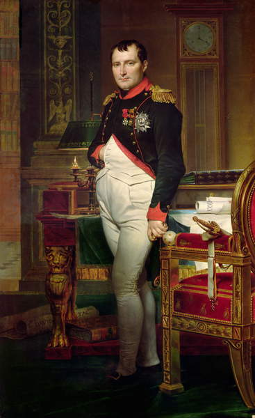Napoleon Bonaparte in his Study at the Tuileries, 1812 (oil on canvas), Jacques Louis David (1748-1825) / Private Collection / Bridgeman Images