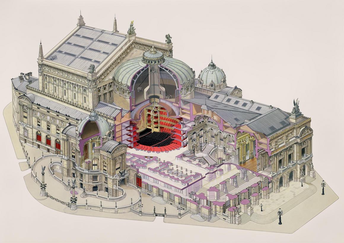Architecture Images and Drawings - Cross-section of the Paris Opera House