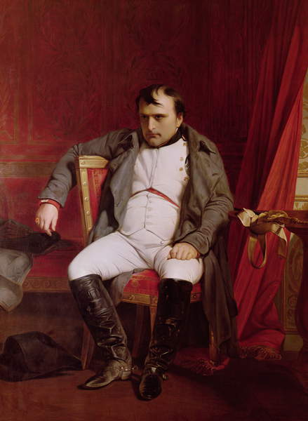 Napoleon (1769-1821) after his Abdication (oil on canvas), Paul Hippolyte Delaroche (1797-1856) / Musee de l'Armee, Paris, France