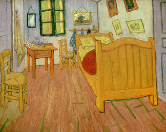 The Bedroom, 1888 (oil on canvas) by Vincent Van Gogh (1853-1890)