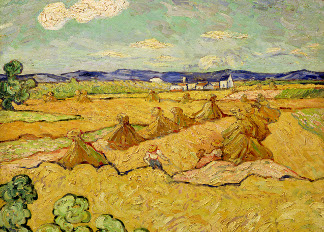 The Haystacks (oil on canvas), Vincent van Gogh (1853-90) / © Nationalmuseum, Stockholm, Sweden