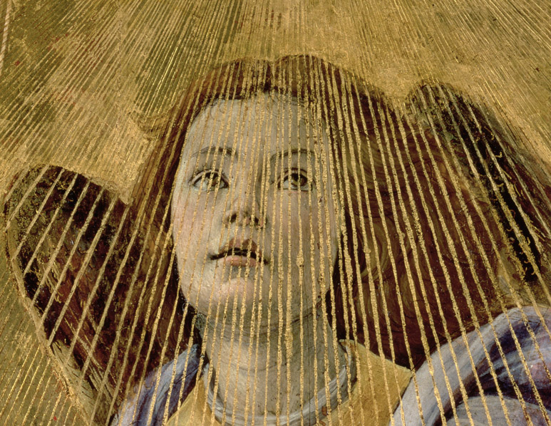 Angel, from the 'Coronation of the Virgin', Sandro Botticelli / Galleria degli Uffizi, Florence, Italy / Bridgeman Images