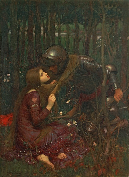La Belle Dame Sans Merci, 1893, John William Waterhouse, Hessisches Landesmuseum, Darmstadt, Germany / Bridgeman Images