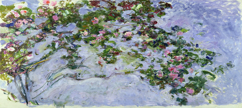 The Roses, 1925-26 (oil on canvas), Claude Monet (1840-1926)/ Bridgeman Images
