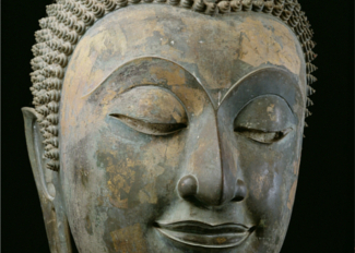 Head of a giant Buddha (bronze), Thai / National Museum, Bangkok, Thailand / Photo © Luca Tettoni
