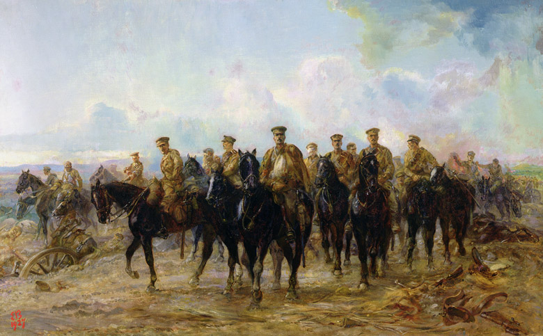 The Retreat from Mons, 1927 by Lady Butler(Elizabeth Southerden Thompson) (1846-1933) / © Royal Hospital Chelsea, London, UK