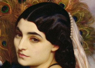 Pavonia, 1859 (oil on canvas) (detail of 64816), Leighton, Frederic (1830-96) / Private Collection / © Mallett Gallery, London, UK
