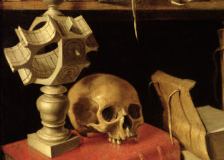 Vanitas with a Sundial, c.1626-40 (oil on canvas), French School, (17th century) / Louvre, Paris, France / Giraudon