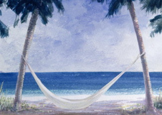 Hammock, 2005 (w/c on paper), by Lincoln Seligman / Private Collection
