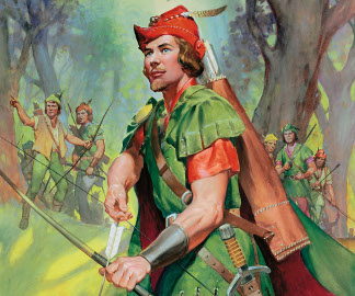 Robin Hood (gouache on paper), James Edwin McConnell, (1903-95)