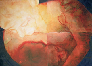 Wound, 2004 (w/c on handmade Indian paper), Dean, Graham (Contemporary Artist)