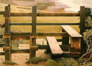 December Stile, 1988 (pastel on paper), Nick Cudworth (b.1947)