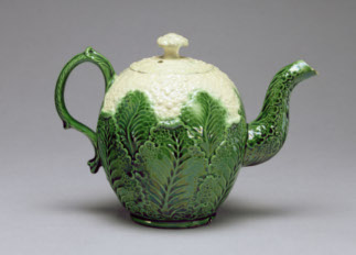 Cauliflower Teapot, Staffordshire, c.1759-66 English School, / Fitzwilliam Museum, University of Cambridge, UK