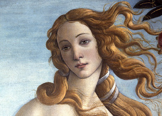 The Birth of Venus, c.1485 (tempera on canvas) (detail of 412), Botticelli, Sandro (1444/5-1510) / Galleria degli Uffizi, Florence, Italy