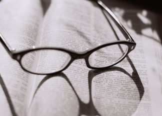 Eyeglasses on Dictionary, Jan Hardisty (b.1948) / Private Collection / © Special Photographers Archive