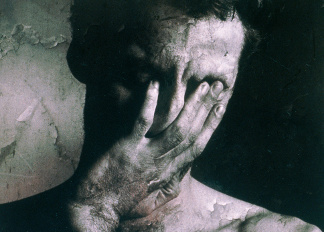 Man with Hand on Face, Ewan Fraser (b.1964) / Private Collection / © Special Photographers Archive