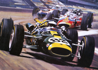 The Indianapolis 500, Hardy, Wilf (Wilfred) (20th century) / Private Collection / © Look and Learn