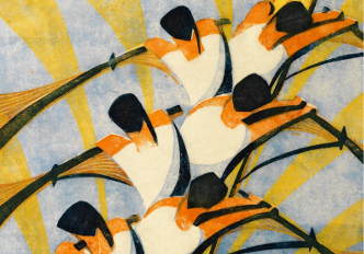The Eight, 1930 (linocut), Cyril Edward Power, (1874-1951) / Photo © Osborne Samuel Ltd, London