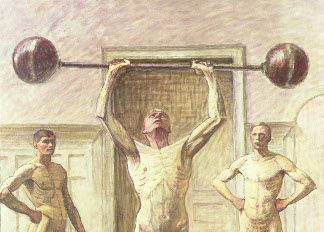 Pushing Weights with Two Arms, Number 3, 1914, Eugene Jansson (1862-1915) / Private Collection / Photo © Peter Nahum at The Leicester Galleries, London