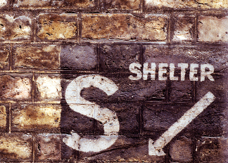 Sign for a Second World War Air Raid Shelter (photo) / Lord North Street, Westminster, London, UK / Photo © Neil Holmes