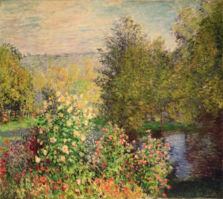A Corner of the Garden at Montgeron, 1876-7 (oil on canvas) by Claude Monet (1840-1926)