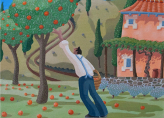 Five a Day, 2008 (oil on canvas), by Victoria Webster