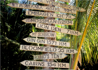 Australia-Signs For Cape Tribulation (Northern Queensland) / Omniphoto /UIG