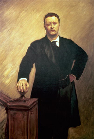 Portrait of Theodore Roosevelt by John Singer Sargent (1856-1925)