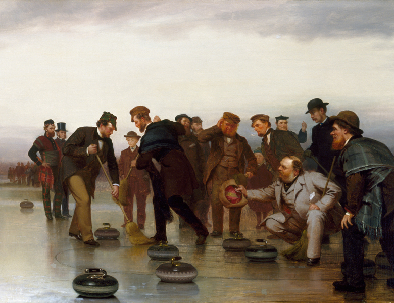 Curling; a Scottish Game, at Central Park, 1862, John George Brown / Museum of Fine Arts, Houston