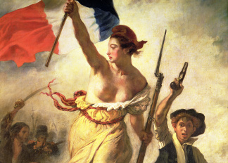 Liberty Leading the People, 28 July 1830 (oil on canvas), Ferdinand Victor Eugene Delacroix (1798-1863) / Louvre, Paris