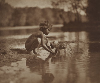 Native child and puppy, 1914 by Frank Hurley (1885-1962) National Gallery of Australia, Canberra/ Kodak (Australasia)