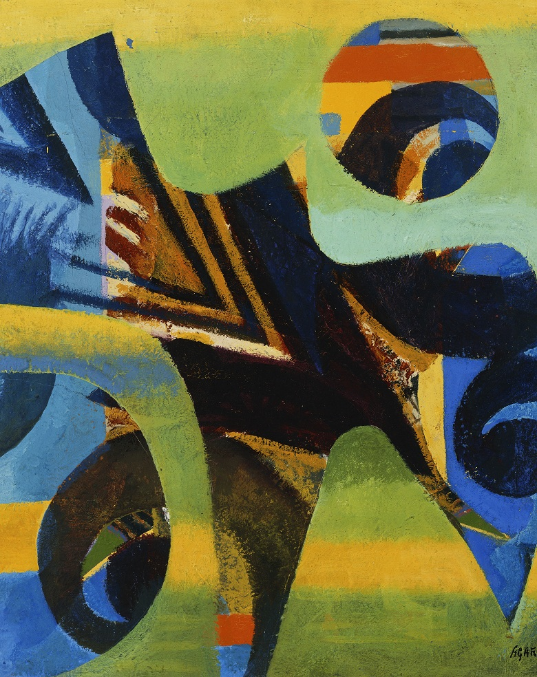 Abstract Composition, (oil on canvas) by Eileen Agar / Photo © Christie's Images