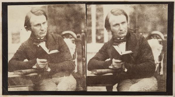 Stereographic portrait of Dr John Adamson (b/w photo), Robert Adamson (1821-48) / The University of St. Andrews, Scotland, UK / Bridgeman Images