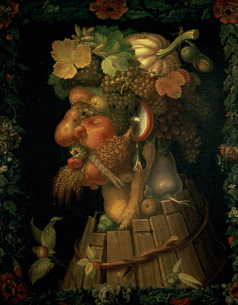 Autumn, Giuseppe Arcimboldo (1527-93) / Louvre, Paris, France / Giraudon / Bridgeman Images